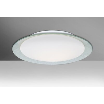 Fidelia 1-Light Aluminum LED Flush Mount Shade Color: Silver