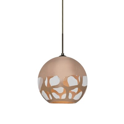 Jason 1-Light Globe Pendant Finish: Bronze, Shade Color: Copper