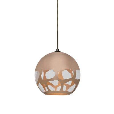 Jason 1-Light Globe Pendant Finish: Bronze, Shade Color: Copper