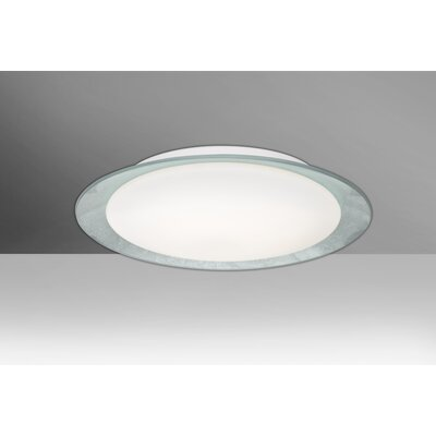 Fidelia Handcrafted 1-Light LED Flush Mount Shade Color: Silver