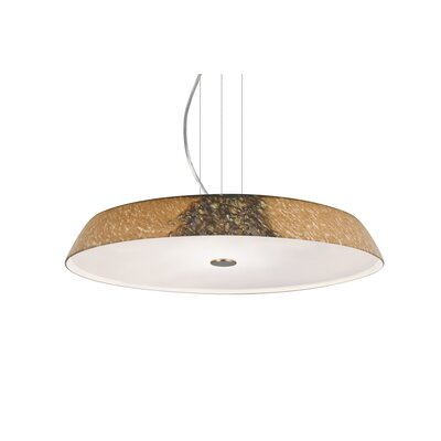 Speier Round Suspension 1-Light LED Ceylon Inverted Pendant Finish: Satin Nickel