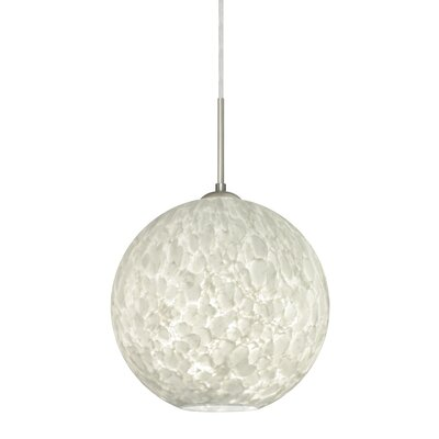 Speth Cord 1-Light Globe Pendant Base Finish: Satin Nickel, Size: 11.5 H x 11.75 W x 11.75 D