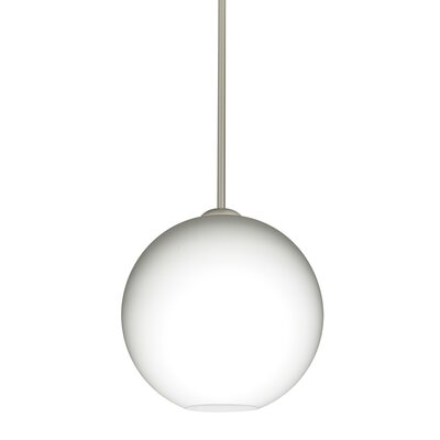 Speth Opal Matte 1-Light LED Globe Pendant  Base Finish: Satin Nickel, Size: 9.5