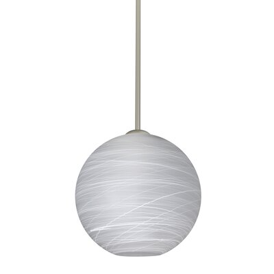 Speth Stem 1-Light Globe Pendant Base Finish: Satin Nickel, Size: 9.5 H x 9.88 W x 9.88 D