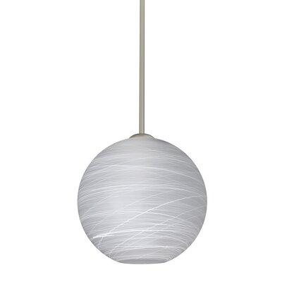 Speth Stem 1-Light Globe Pendant Base Finish: Satin Nickel, Size: 9.5 H x 9.88 W x 9.88 D