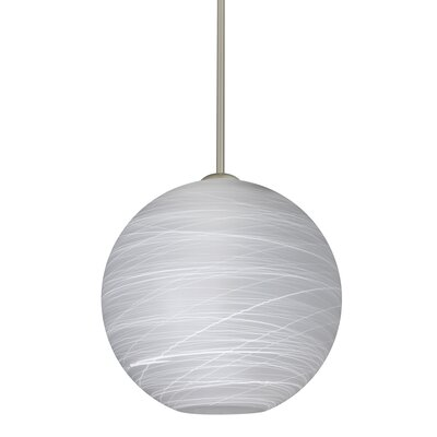Speth Stem 1-Light Globe Pendant Base Finish: Satin Nickel, Size: 13.25 H x 13.75 W x 13.75 D