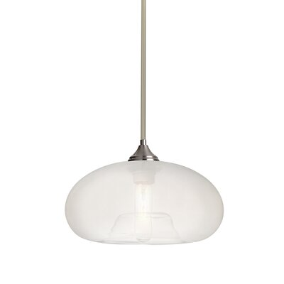 Sperry Stem 1-Light Mini Pendant Base Finish: Satin Nickel, Shade Color: Frost