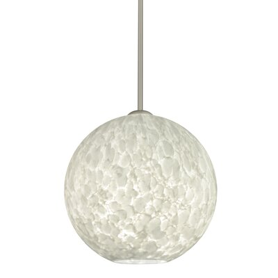 Speth 1-Light Globe Pendant Base Finish: Satin Nickel, Size: 13.25 H x 13.75 W x 13.75 D