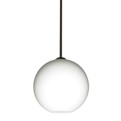 Speth Opal Matte 1-Light LED Globe Pendant  Base Finish: Bronze, Size: 9.5 H x 9.88 W x 9.88 D