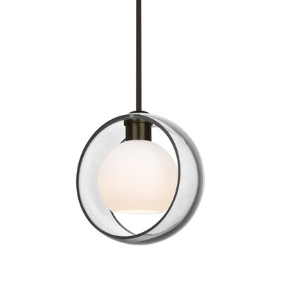 Spigner Stem 1-Light LED Mini Pendant Base Finish: Bronze, Shade Color: Clear