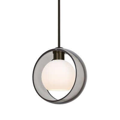 Spigner Stem 1-Light Mini Pendant Base Finish: Bronze, Shade Color: Smoke