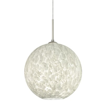 Speth Cord 1-Light Globe Pendant Base Finish: Satin Nickel, Size: 13.25 H x 13.75 W x 13.75 D