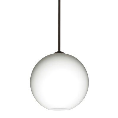 Speth 1-Light Opal Matte Globe Pendant Base Finish: Bronze, Size: 11.5 H x 11.75 W x 11.75 D