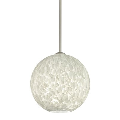 Speth 1-Light Globe Pendant Base Finish: Satin Nickel, Size: 11.5