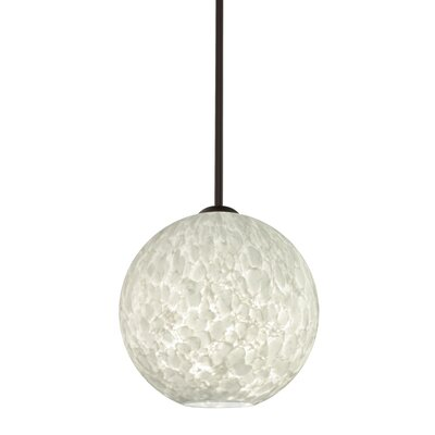 Speth 1-Light Globe Pendant Base Finish: Bronze, Size: 9.5