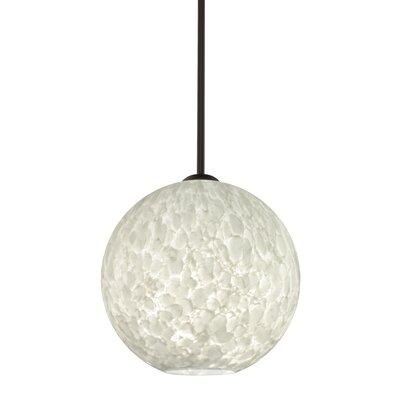 Speth 1-Light Globe Pendant Base Finish: Bronze, Size: 11.5