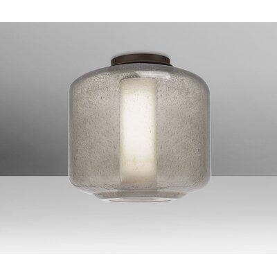 Spero Ceiling 1-Light Semi Flush Mount Base Finish: Bronze, Shade Color: Smoke