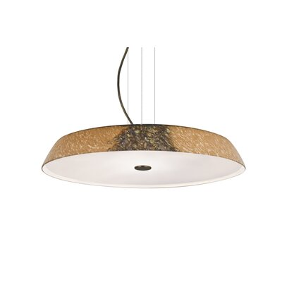 Speier Round Suspension 1-Light LED Ceylon Inverted Pendant Finish: Bronze