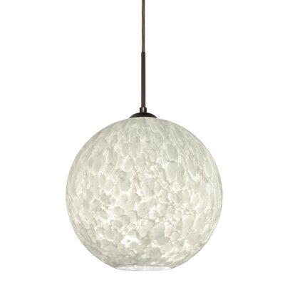 Speth 1-Light Globe Pendant Base Finish: Bronze, Size: 13.25 H x 13.75 W x 13.75 D