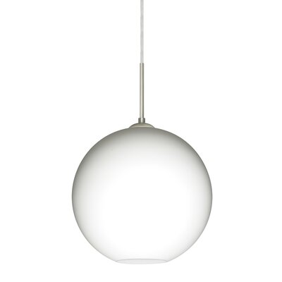 Speth 1-Light Globe Pendant Base Finish: Satin Nickel, Size: 11.5 H x 11.75 W x 11.75 D