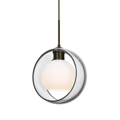 Spigner 1-Light Mini Pendant Base Finish: Bronze, Shade Color: Clear
