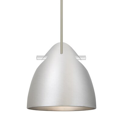 Spillane Stem 1-Light LED Mini Pendant Finish: Satin Nickel