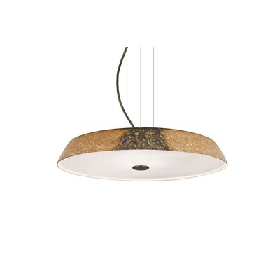 Speier Modern Round Suspension 1-Light LED Inverted Pendant Finish: Bronze