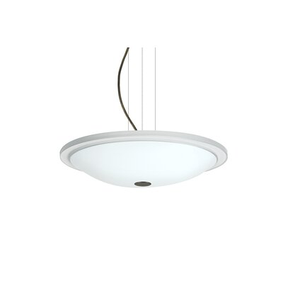 Cavandale Round Suspension 1-Light Bowl Pendant Finish: Bronze, Size: 3 H x 13.5 W x 13.5 D