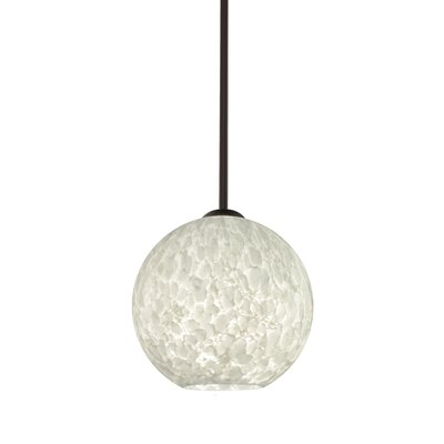 Speth 1-Light Globe Pendant Base Finish: Bronze, Size: 7.5