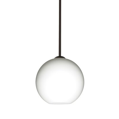Speth 1-Light Opal Matte Globe Pendant Base Finish: Bronze, Size: 7.5 H x 7.88 W x 7.88 D