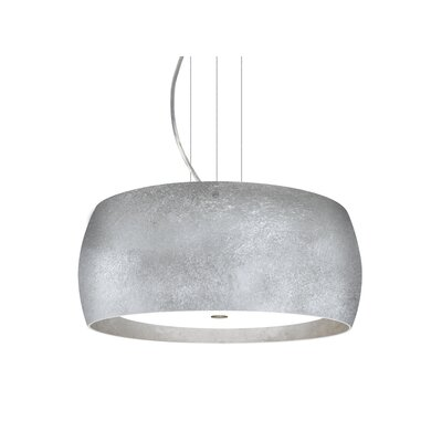 Speidel 3-Ligh Drum Pendant Base Finish: Satin Nickel, Shade Color: Silver