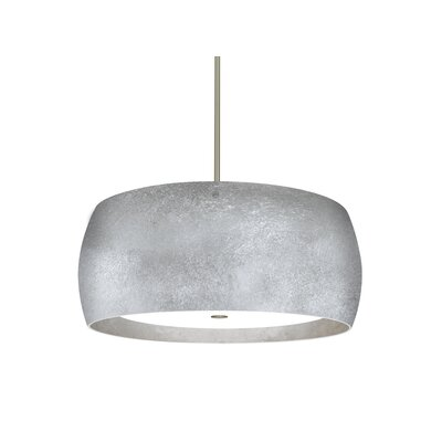 Speidel 3-Light Drum Pendant Base Finish: Satin Nickel, Shade Color: Silver