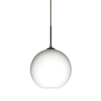 Speth 1-Light Globe Pendant Base Finish: Bronze, Size: 7.5 H x 7.88 W x 7.88 D