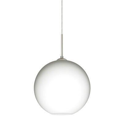 Speth 1-Light Globe Pendant Base Finish: Satin Nickel, Size: 9.5 H x 9.88 W x 9.88 D