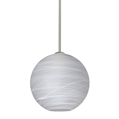 Speth Stem 1-Light Globe Pendant Base Finish: Satin Nickel, Size: 11.5 H x 11.75 W x 11.75 D