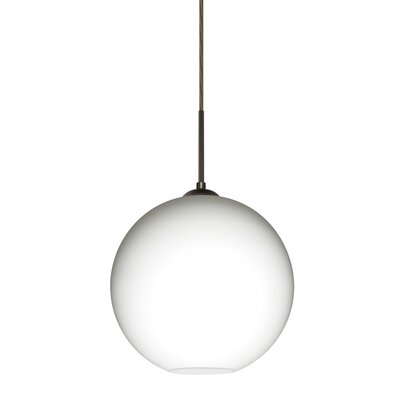 Speth Cord 1-Light Globe Pendant Base Finish: Bronze, Size: 9.5 H x 9.88 W x 9.88 D
