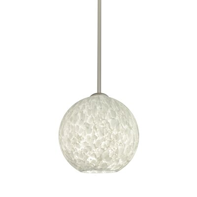 Speth 1-Light Globe Pendant Base Finish: Satin Nickel, Size: 7.5 H x 7.88 W x 7.88 D
