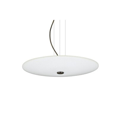 Howell 16W Round Suspension 1-Light Bowl Pendant Finish: Bronze, Shade Color: White Sparkle