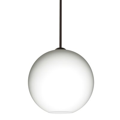 Speth Opal Matte 1-Light LED Globe Pendant  Base Finish: Bronze, Size: 13.25 H x 13.75 W x 13.75 D
