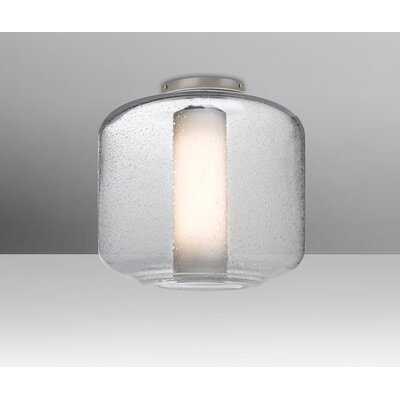 Spero Ceiling 1-Light Semi Flush Mount Base Finish: Satin Nickel, Shade Color: Clear