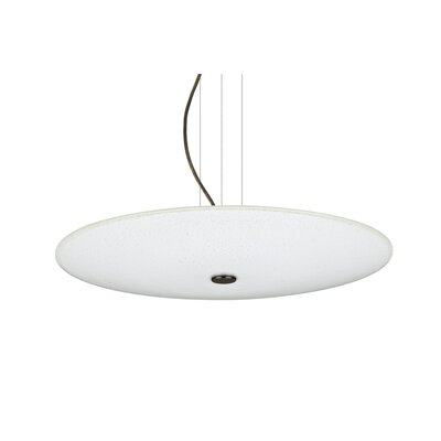Howell Round Suspension 1-Light Bowl Pendant Finish: Bronze, Shade Color: White Sparkle