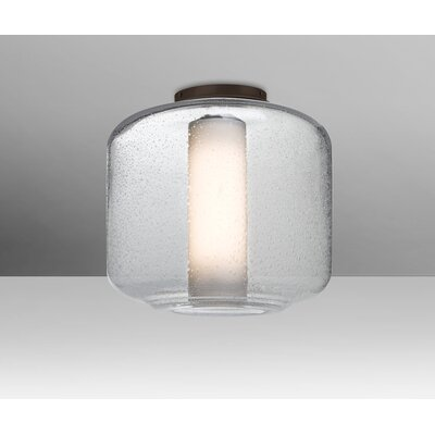 Spero Ceiling 1-Light Semi Flush Mount Base Finish: Bronze, Shade Color: Clear