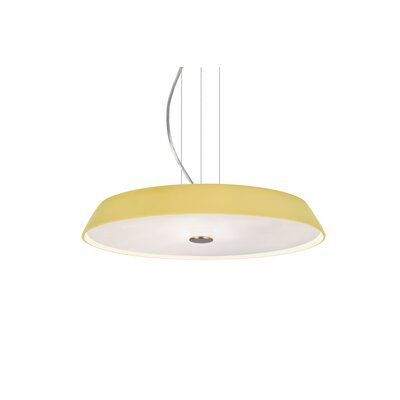 Speier Contemporary Round Suspension 1-Light LED Inverted Pendant Finish: Satin Nickel, Shade Color: Vanilla