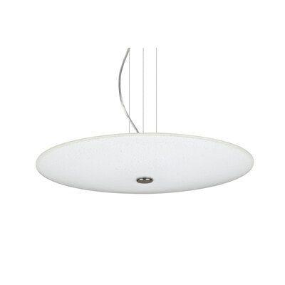 Howell Round Suspension 1-Light Bowl Pendant Finish: Satin Nickel, Shade Color: White Sparkle