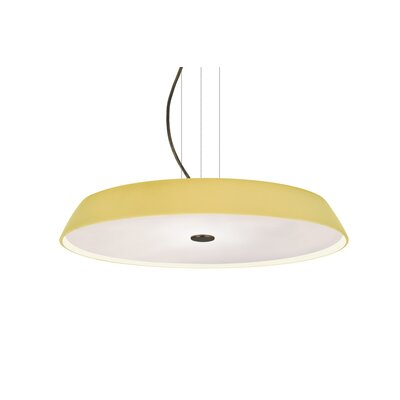 Speier Round Suspension 1-Light LED Inverted Pendant Finish: Bronze, Shade Color: Vanilla