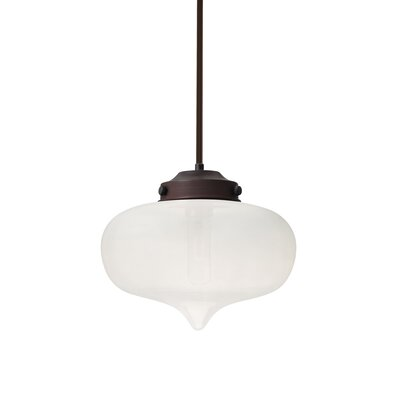 Sperling Stem 1-Light Mini Pendant Base Finish: Bronze, Shade Color: Frost