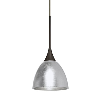Cavan Cord 1-Light Mini Pendant Base Finish: Satin Nickel, Shade Color: Gold, Bulb Type: 50W Halogen