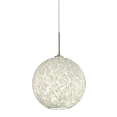 Speth Cord 1-Light Globe Pendant Base Finish: Satin Nickel, Size: 9.5 H x 9.88 W x 9.88 D