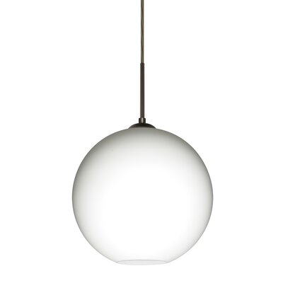 Speth 1-Light Globe Pendant Base Finish: Bronze, Size: 11.5 H x 11.75 W x 11.75 D
