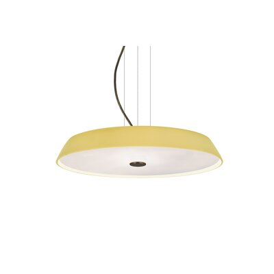Speier Contemporary Round Suspension 1-Light LED Inverted Pendant Finish: Bronze, Shade Color: Vanilla